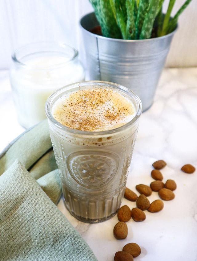Recette café latte amande