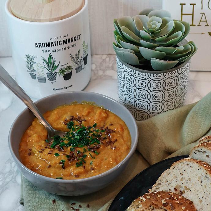 recette soupe de butternut aux épices et lait de coco