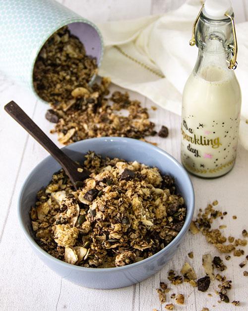 recette muesli croustillant au chocolat facile et gourmand