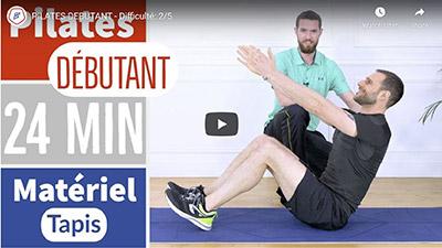 French and Fit_Vidéo Youtube cours de Pilates niveau débutant