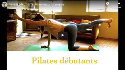 Happyspine_Vidéo Youtube cours de Pilates complet pour débutant