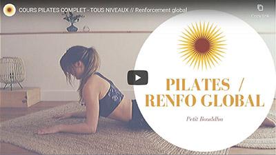 Petit Bambou Vidéo Youtube cours de pilates pour tous niveaux