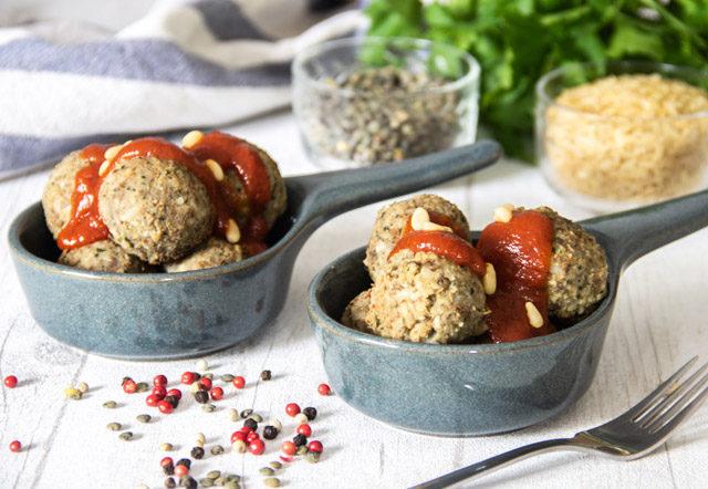 recette boulettes végétales lentilles et riz complet