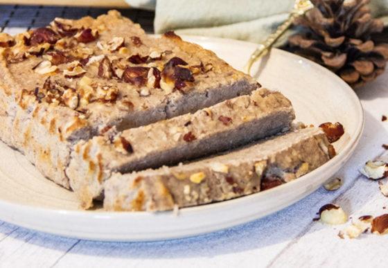 gâteau fondant banane noisettes vegan