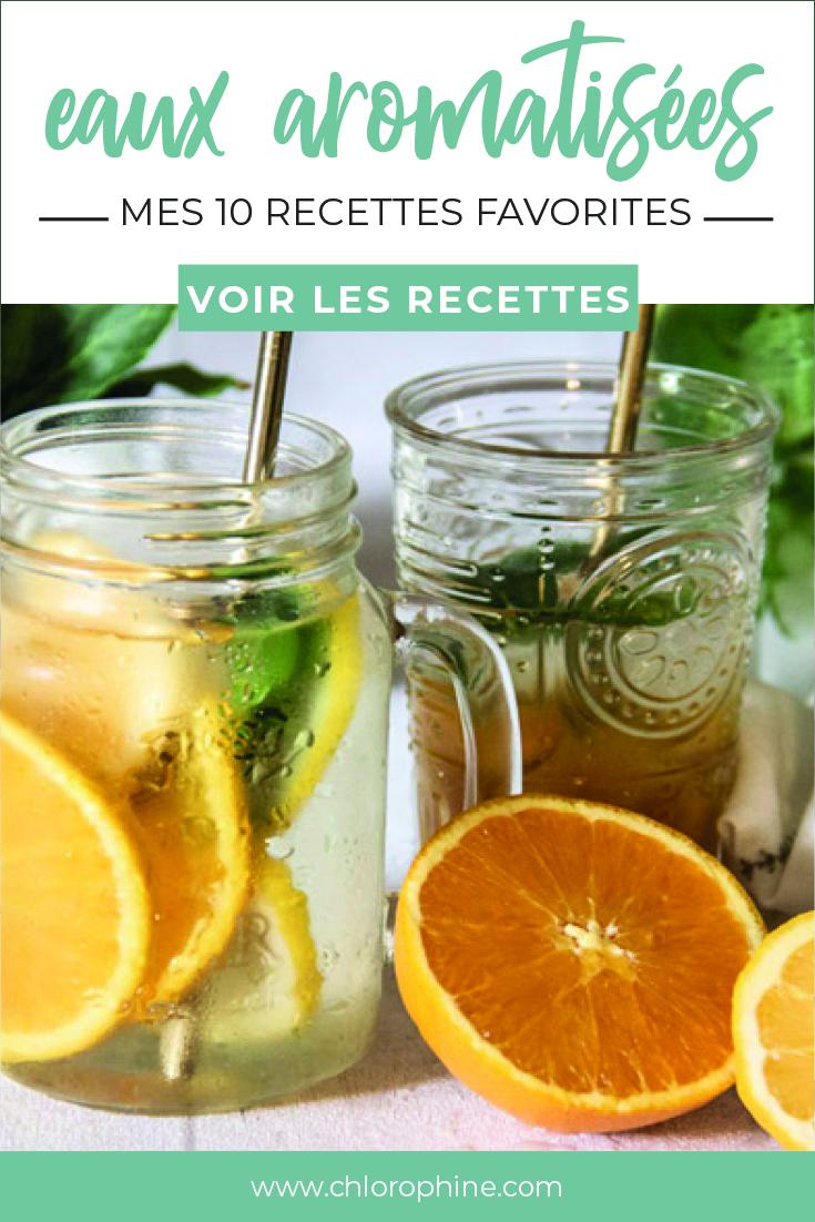 10 recettes d'eaux aromatisées