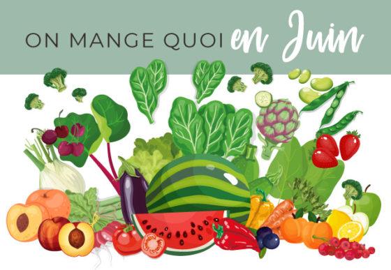 Calendrier des fruits et légumes de saison mois de juin