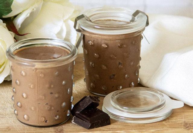 crème au chocolat et à la patate douce vegan