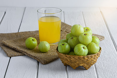 Les fruits de l'amla sont riches en antioxydants et en vitamine C