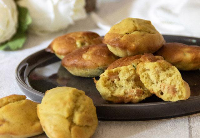 recette madeleines salées vegan et sans gluten