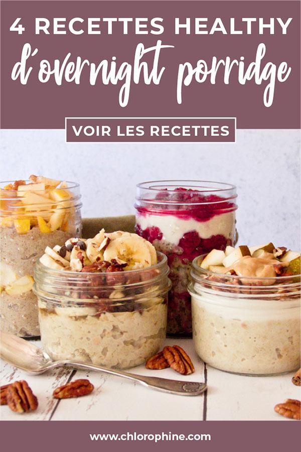 Partager les recettes d'overnight porridge sur Pinterest