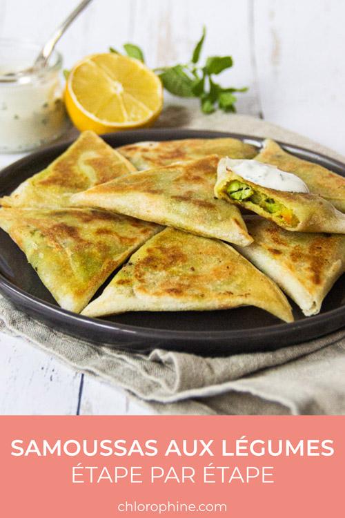 Recette samoussas aux légumes image pour Pinterest