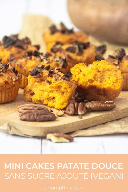 Partager la recette des cakes à la patate douce sur Pinterest