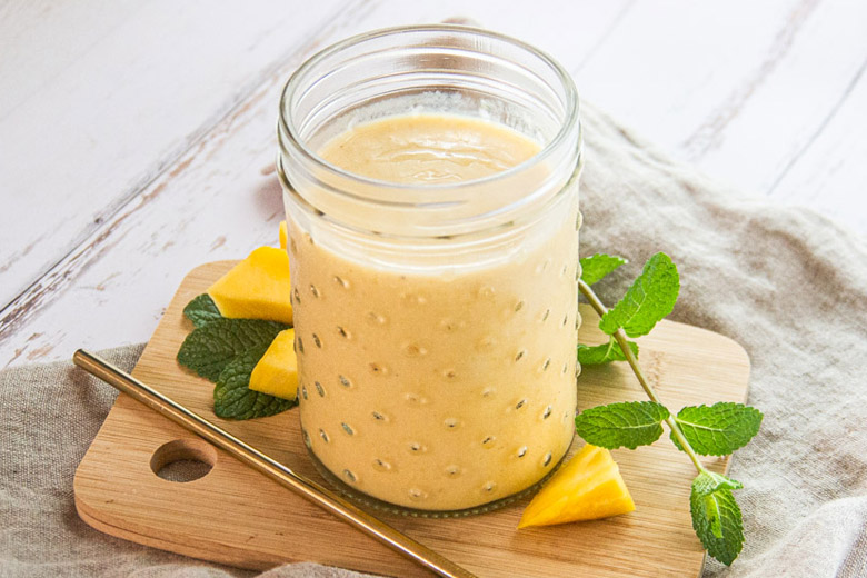 Recette vegan de milkshake à la mangue