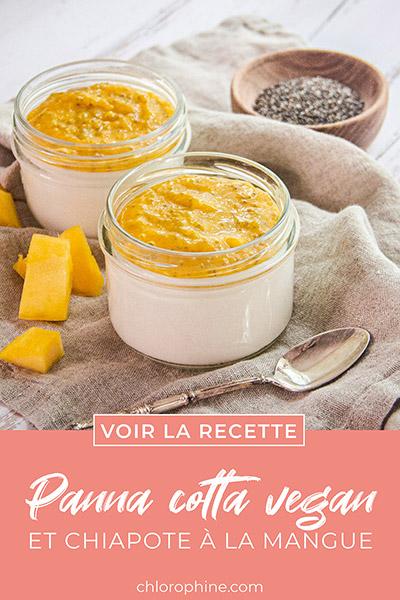 Partager la recette de panna cota végétalienne à la mangue sur Pinterest